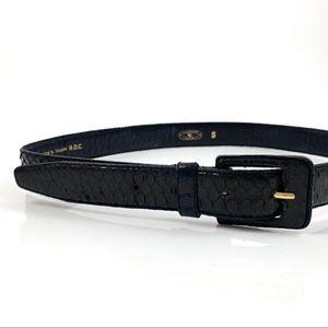 Vintage black snakeskin belt by CHARTER CLUB